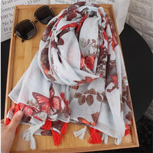 Casual Vacation Chic Floral Fringe Bottom Rectangle Cape Scarf - lolabuy