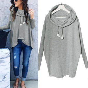 Round Neck Long Sleeve Hoodies - lolabuy