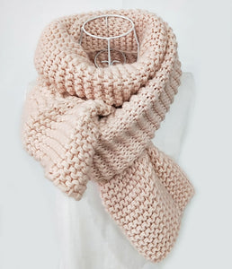 Casual Sweet Chic Thermal Plain Rectangle Scarf - lolabuy