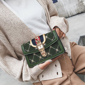 Chic Lady Elegant Leather Chain One Shoulder Hand Bag - lolabuy