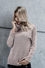 Chic Casual Thermal Slim Plain High Collar Long Sleeve Sweater - lolabuy