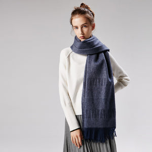 Casual Chic Rectangle Thermal Fringe Bottom Cape Scarf - lolabuy