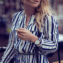 Casual Vacation Slim Button V Collar Long Sleeve Maxi Dress - lolabuy