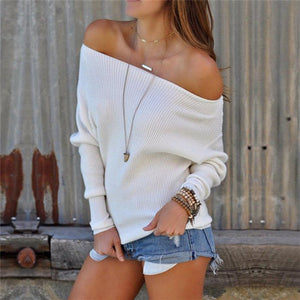 Casual Fashion Loose Plain Round Neck Long Sleeve Sweater - lolabuy