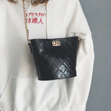 Casual Chic Leather Bucket Chain One Shoulder Bag - lolabuy