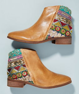 Vintage Classic Jacquard Stitching Ankle Boots - lolabuy