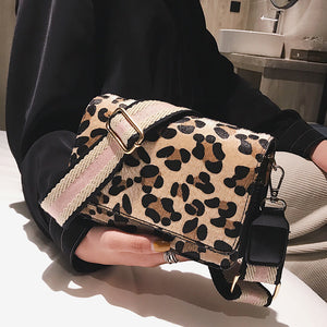 Elegant Casual Stylish Rectangle Leopard Print One Shoulder Small Bag - lolabuy