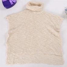 Chic Casual Fashion Loose Plain High Collar Short Sleeve Knitting Top - lolabuy