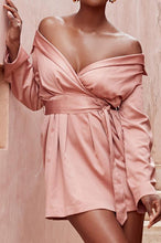 Sweet Nifty Chic Slim Plain Off Shoulder Long Sleeve Shift Dress - lolabuy