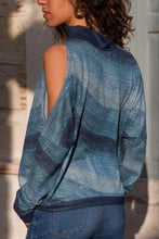 High Neck  Abstract Print Sweaters - lolabuy