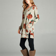 Casual Floral Loose Long Sleeve Round Neck Long Sleeve Top - lolabuy
