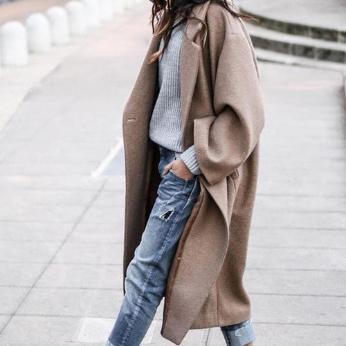 Women Long Outerwear Warm Fashion Coat - lolabuy