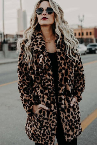 Fashion Winter Thicken Leopard Printed Coat - lolabuy