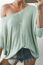 Fashion Casual Loose Solid Color Off Shoulder Long Sleeve Knitting Top - lolabuy
