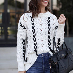 Sweet Nifty New Arrival Fashion Loose Long Sleeve Sweater - lolabuy