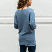 Round Neck Long Sleeve Color Block Knitting Sweaters - lolabuy