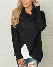 High-Collared Turtleneck Long-Sleeved Sweater - lolabuy