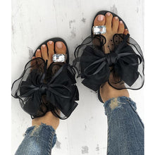 Fashion Clip Toe Flat Sandal Shoes With Bow-Knot - lolabuy
