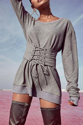 Slim-Fit Strap Mid-Length Ladies Sweater