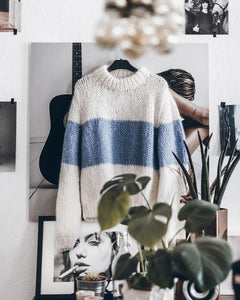 High Neck  Color Block Patchwork Sweaters - lolabuy