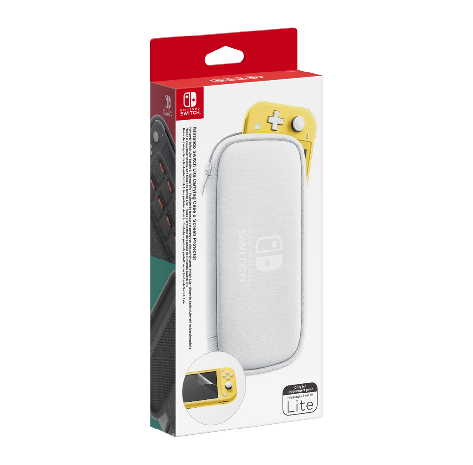 Official Nintendo Switch Lite Carry Case grey screen protector