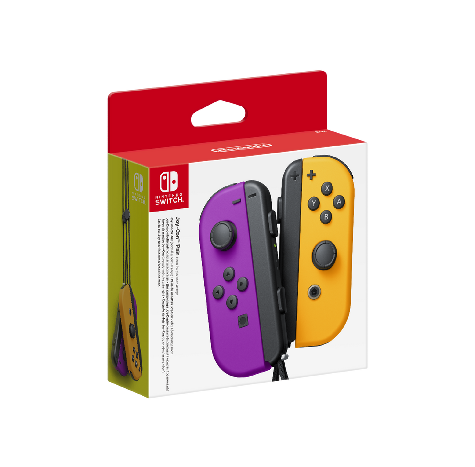 Joy-Con Pair Neon Purple & Neon Orange