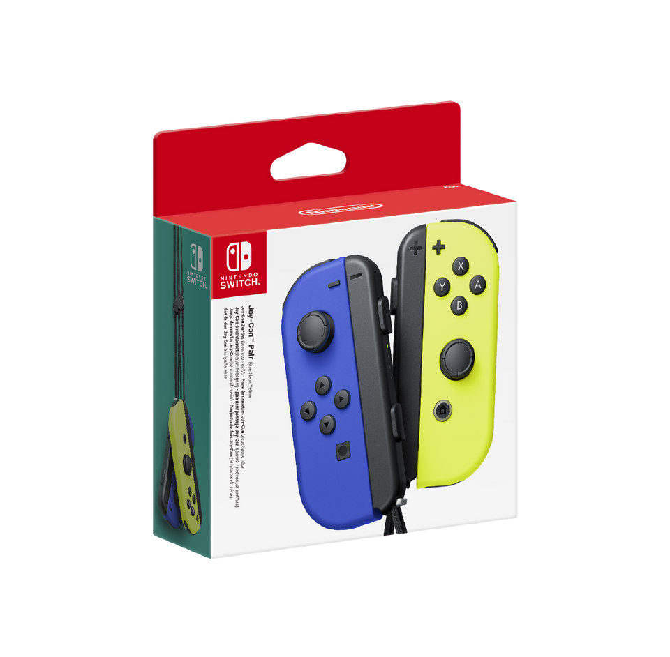 Joy-Con Pair Blue and Neon Yellow