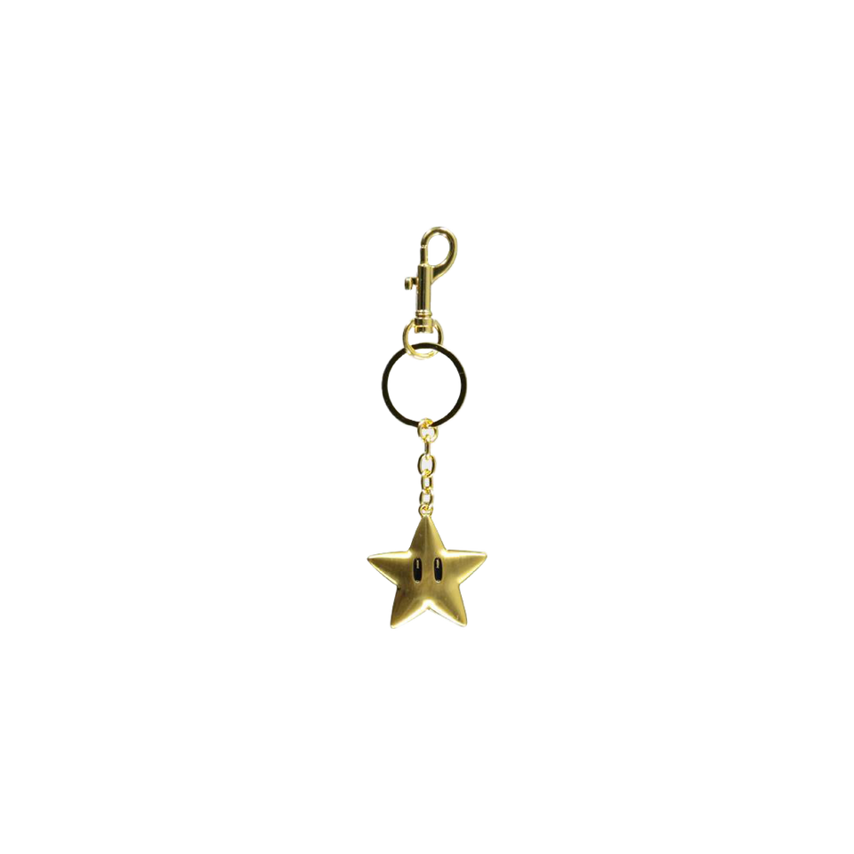 Super Mario Star Keychain