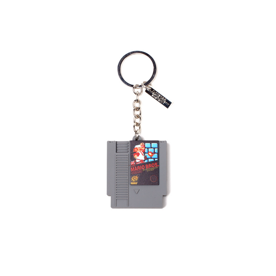 Nintendo Cartridge 3D Rubber Keychain