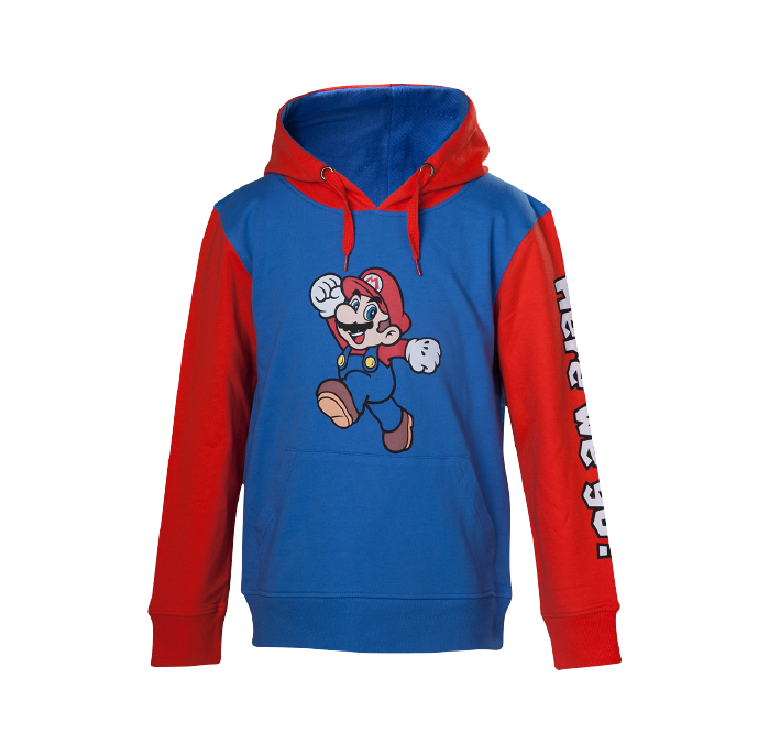 Nintendo Super Mario Here We Go Kids Hoodie - 86/92