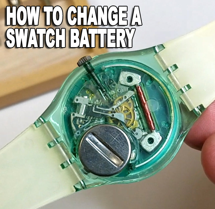 How to Change Swatch Battery in 2 Minutes