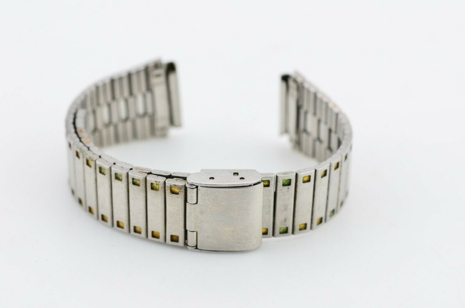 F902 16mm Vintage 1980s Unbranded Watch Bracelet Stainless Steel JDM Japan 13.2