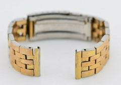 18mm Vintage Gold Maruman Watch Bracelet Stainless Steel Original JDM G702/114.3