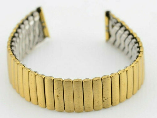 E944 16mm Gold Watch Bracelet Stainless Steel Replacement MSH01C Vintage 65.3