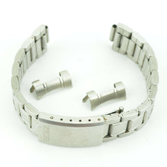 C173 Vintage Casio 18mm Watch Band Stainless Steel Bracelet Authentic 58.4
