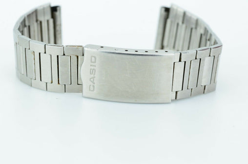 C452 Vintage Mens Casio Watch Band Stainless Steel Bracelet Link Japan 18mm 9.4