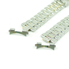 A238 Vintage Mens Stainless Steel Watch Band Bracelet 18mm 2.1
