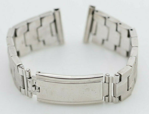 I579 21mm Vintage Queen Watch Bracelet Stainless Steel K18 GP JAPAN 131.1