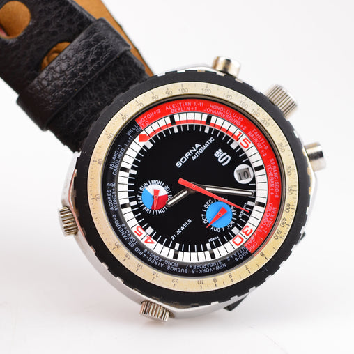 1970s Sorna Automatic Worldtimer GMT T21707-64 Serviced