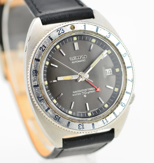 1968 Seiko Navitimer GMT 6117-8000 Serviced