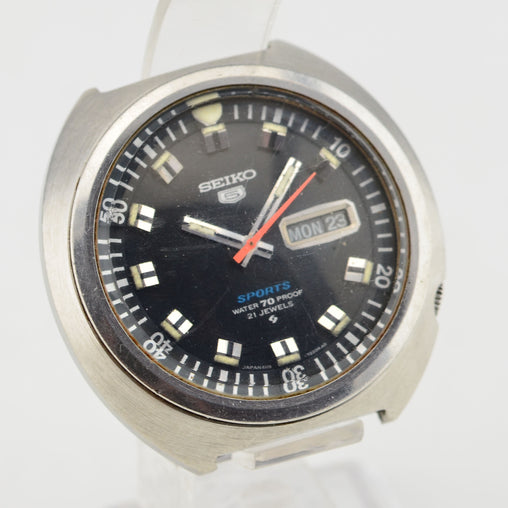1969 Seiko 5 Sports Diver Raised Hour Markers Watch 6119-7160