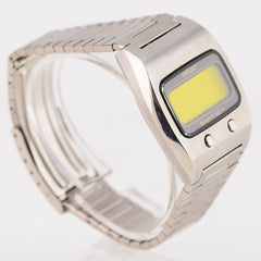 1974 Seiko Digital Lemon Face Quartz LCD Watch 0624-5000