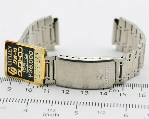 G729 18mm Vintage Citizen LC CQ Watch Bracelet Stainless NOS JDM Japan 57.2