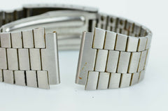 C555 Vintage Mens Casio Watch Band Stainless Steel Bracelet Link Japan 19mm 9.3