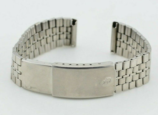 F123 18mm Vintage Citizen Digital Quartz Watch Bracelet Stainless Steel JDM 78.2