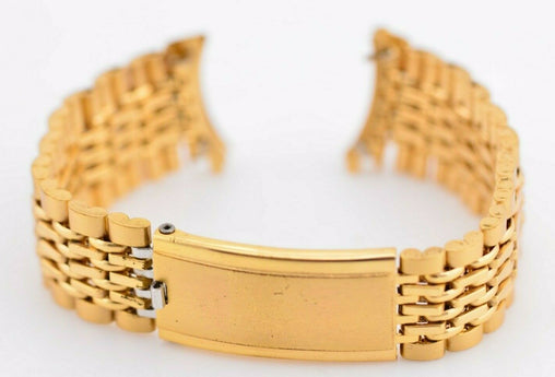 I589 19mm Vintage Gold Maruman Watch Bracelet Stainless Steel JDM I0H33 131.1