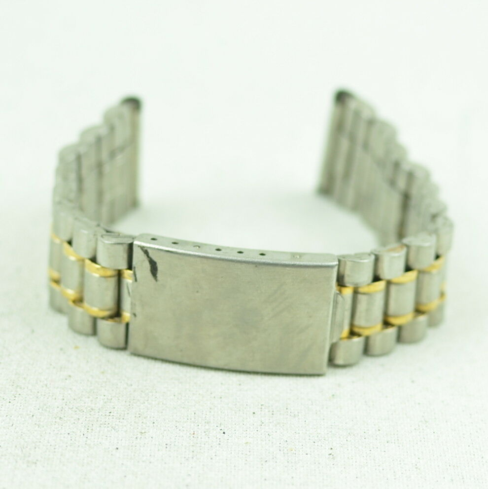 A315 Vintage Mens Stainless Steel Replacement Watch Band Bracelet 20mm 38.2