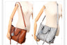 Luxurious Oil Waxed Leather Handbag Set For Women | 4 Pcs