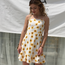Slash Fashioned, Waist Print Bow Mini Sleeveless Dress with Beautiful Design