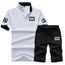 Stylish Collar T-shirt, Letter Printed Sport suit Set with finest design